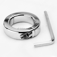 Man Stainless steel Cock Ring Male Cockring Male Ball Weights and Stretching Metal CBT