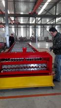 corrugated glazed type of roof tile machine  Russia Export
