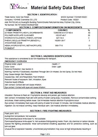 2016 Y-service de Haute Qualité professionnel uv gel ongles kit