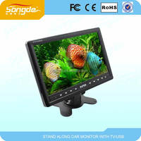 TFT lcd high definition portable car tv mornitor dvb-t2 digital and analog tv DC12/24V