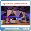Pipe and drape kits stage decoration fabric backdrop stand event wedding aluminum backdrop stand pipe drape
