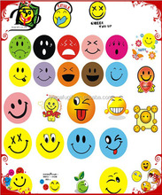 party supplies colorful smiling face stickers