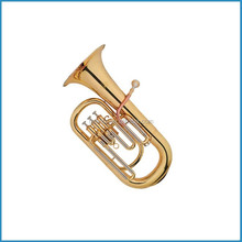 Bb key gold lacquer euphonium for beginners