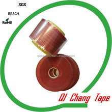 Acrylic adhesive double sided tape to seal plastic bags