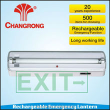 Rechargeable emergency exit wall-mounted lantern