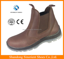 Crazy horse leather PU/TPU sole construction slip on safety boots Australia SNC3003