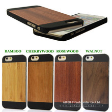 blank wood case for iphone 6 PC smartphone case