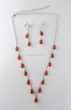 Paradise jewelry,Wholesale Alibaba, Antique, Hollowed-out Ruby Artificial Necklace