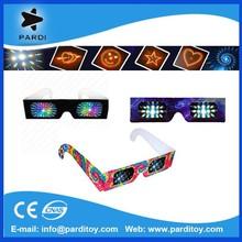 Promotional cheap paper 3d glasses paper diffraction glasses