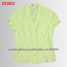 Ladies blouse short sleeves