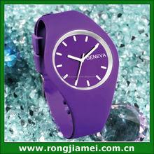 Simple Style Fashion Gel Custom Geneva Quartz Watch Jelly WristWatch Silicon