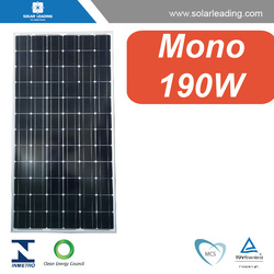 CE approved 190w import solar panels connect to solar inverter 380v for home grid tie solar energy systems
