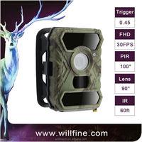 Black IR Hunting Camera, 12 HD Night Vision Hunting With Security Panel, Audio Recording Camera Trap