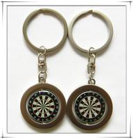 Promotional custom dart board keychain dart gift