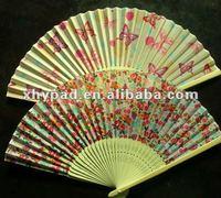Japanese bamboo fabric folding fan
