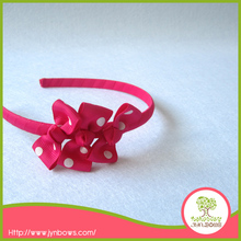 Polka Dots Small Bow Tie Hairband for Girls