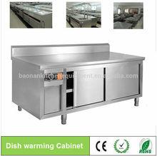 De acero inoxidable gabinete comercial/mesas de preparación: plato el calentamiento del gabinete