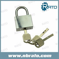 half brass cylinder chrome plated iron quartet high security padlock