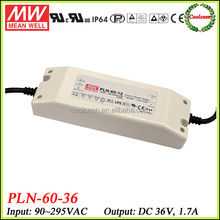 Meanwell switching mode power supply 36v 1.7a PLN-60-36