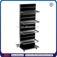 TSD-M075 Custom 4 tier floor metal painting display rack/metal display stand metal exhibition stand/metal wall unit