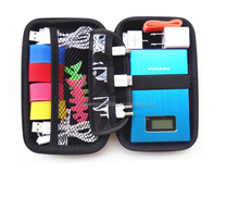 Water Resisitant EVA hard drive Case for Memory Card ,External Battery Charger, SanDisk USB Flash Drive