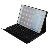 Removable wireless bluetooth 3.0 ABS keyboard and PU leather case for new ipad mini2