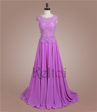 2015 real picture of latest gown dress purple color night wear
