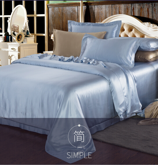 Cheap King Size Silk Sheet Sets European Silk Jacquard 3d