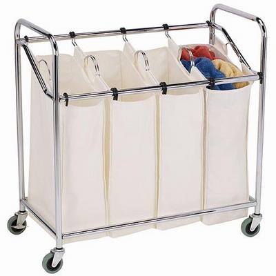 4 compartiment panier linge linge sorter avec amovible sac sac panier - Panier linge 3 compartiments ...