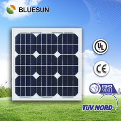 Best price and good design mono 30w pv solar panel price