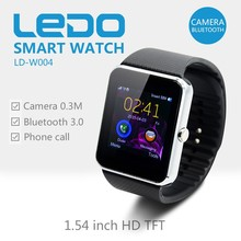 LEDO china cheap price bluetooth smart watch gt08 with SIM Card TF Card Camera 0.3MP Android Smart Watch phone 2015 new