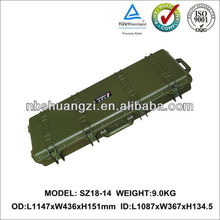 Factory price high end Plastic hard gun case with foam