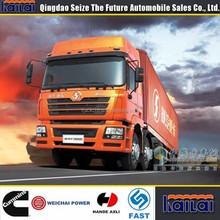 China supplier Shacman 12 wheel 50m3 cargo van for sale