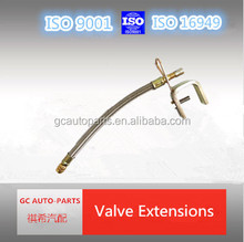 flexible tire valve extension of metal material
