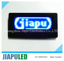2014 new fashion 12*36 pixels programmable message flashing light badge