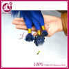 7A Grade i tip and u tip hair crystal micro ring hair vendors straight hair color bright blue