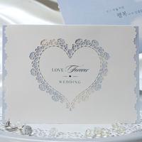 Newly designed premium popular laser order card invitation