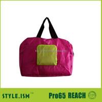 Cheap light foldable travel promotion plain duffel bag