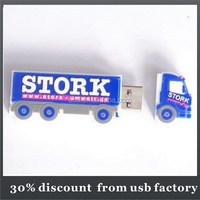 shenzhen custom PVC toy car shape usb flash drive 64GB