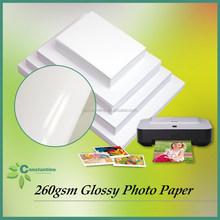 wholesale photo paper Inkjet waterproof paper 260gsm Glossy printing paper