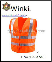 factory price hi vis reflective safety vest orange