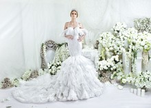 OEM service mermaid bridal wedding dress luxury design 2015 RW1503 made to measures from tailored wedding dresses china