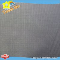 Flame protection waterproof ripstop checkered spandex fabric