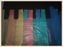 CLEAR PE MATERIAL SHOPPING PLASTIC BAGS T SHIRT BAGS