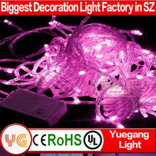 CE ROHS approveded 10 m 100 leds led cluster christmas light clear wire 110V/220V outdoor led chasing christmas lights