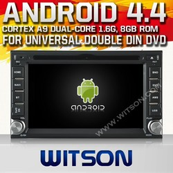 WITSON ANDROID 4.4 BLUETOOTH UNIVERSAL DOUBLE DILN CAR DVD GPS WITH 1.6GHZ FREQUENCY DVR SUPPORT WIFI STEERING WHEEL SUPPORT