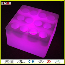 colourful party square LED ice bucket for table