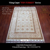 4x6 All-over Design Handmade Floral Turkish Persian Home 100% Silk Rug for Sale