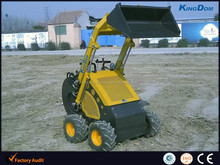 Mini skid loader packaged by plywood case,small excavator bucket loader with digger,auger,backhoe,snow blower