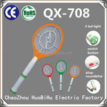 QX 708-22 China rechargeable electric CE&Rohs Led Torch bug zapper Mosquito Swatter Flea Trap